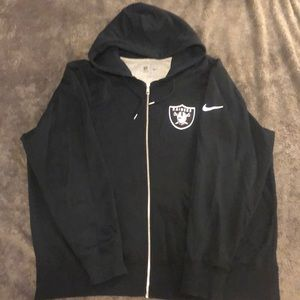 Nike Oakland Raiders Zip-up Hoodie